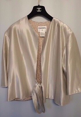 Rare Authentic Vintage Chanel 1999 Spring Summer Silver Jacket