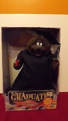 "The Graduate Dancing Action Dog,sings ""Shout"",1998, Gemmy, Rare, old item-in-Box"