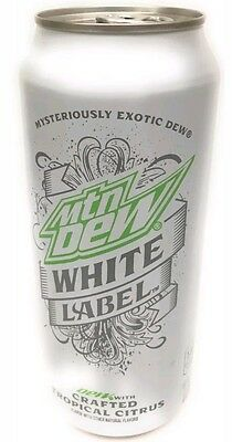 Rare!! Mountain Dew White Label Full Sealed Collectible Can Tropical Flavor