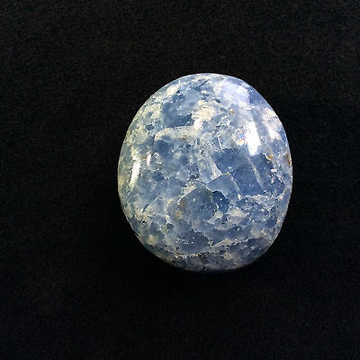 Polished Blue Calcite Palm Stone 170634 Crystal Travel Healing Metaphysical