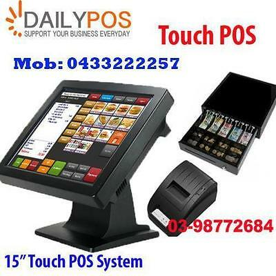 Touch Screen Point of Sale System POS Cafe Takeaway Fish Chips Restaurant