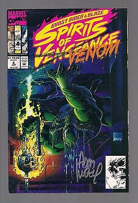 Ghost Rider / Blaze: Spirits of Vengeance #6 Venom Signed by Adam Kubert W/COA