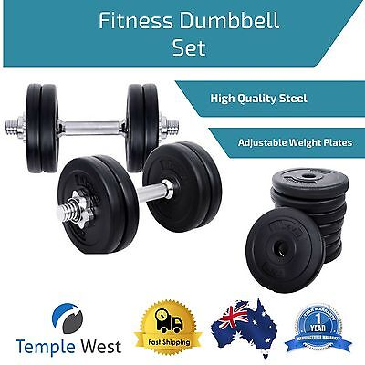 Up to 15kg Dumbells Free Hand Weights Strength Training Gym Home Adjustable