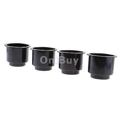 4pcs Black Cup Can Drinks Bottle Holder for Car Auto Truck Interior