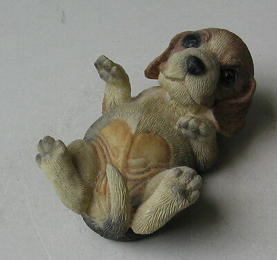 Beagle Puppy On His Back Figurine