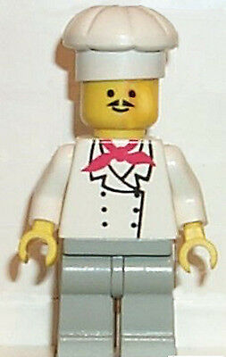 Lego city Minifigure Chef cook baker Minifig New