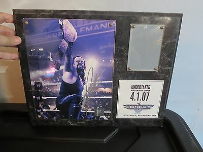 OFFICIAL WWF Undertaker WrestleMania 23 Plaque Rare New Autographed WWE
