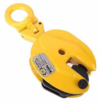 LIFT SAFE Universal Plate Lifting Clamp WLL 1000kg, Jaw Opening 0-20mm