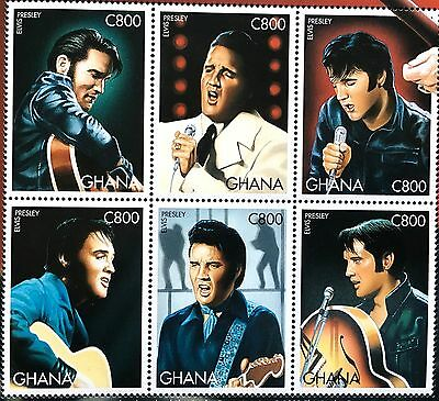 ELVIS PRESLEY 30th Anniversary 68 Special Official Licensed Postage Sheet Ghana