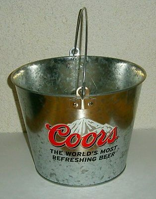 Coors Beer brand new metal drink ice cube bucket for home bar brew or collector