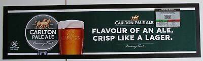 Carlton Pale Ale Beer brand new drink mat runner for home bar, pub, collector