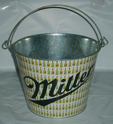 Miller Beer metal drink ice cube bucket for home bar or collector
