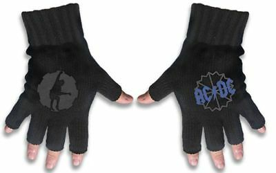 AC/DC - ACDC Fingerless Gloves (Angus Cog Logo)
