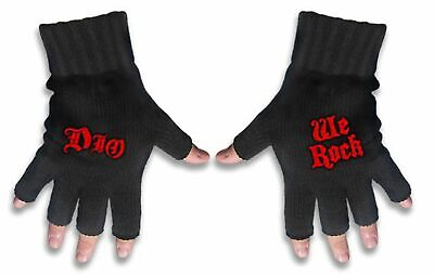 Dio - Fingerless Gloves (Logo and We Rock)