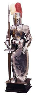 Medival Crusader Knight Suit of Armor Costume Authentic Reproduction Full Armor