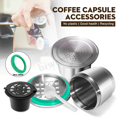Stainless Steel Reusable Refillable Capsule Pod Cup For Nespresso Coffee Machine