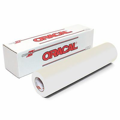 """ORACAL 651 - CLEAR 12"""" x 10ft. Roll Permanent Vinyl"""