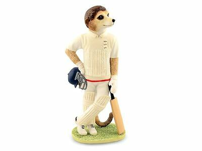 Magnificent Meerkats CA04523 Cricketer Waiting To Bat Figurine Ornament