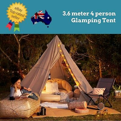 Glamping Tent Camping Backyard Cubby House Party Wedding Children's Party Bell