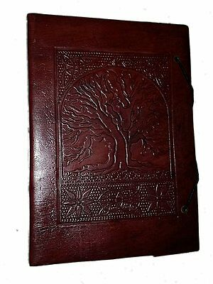 Gbag T Large Tree of Life Leather Journal Diary Notebook for Writing Leather
