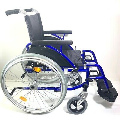 Lightweight Transit Transport Wheelchair 10.9kg Carer Brakes Folding Design NEW