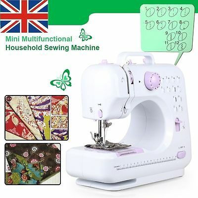 Household Electric Sewing Machine Overlock Clothes 12 Stitch Pattern Sewing Tool
