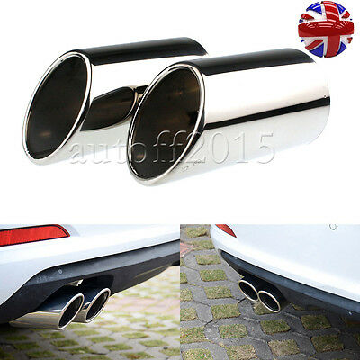 Pair Exhaust Muffler Tip Tail pipe Finisher FOR Audi A3 2009 2010 2011 2012 UK