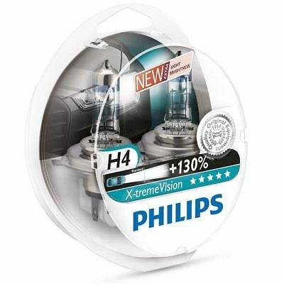 PHILIPS H4 X-treme Vision +130% Headlight bulbs 12V P43t-38 12342XV+S2 Duo Pack