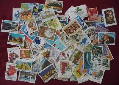 Bulk Of 1000 Australian Used Stamps OFF Paper Used Bulk Stamps