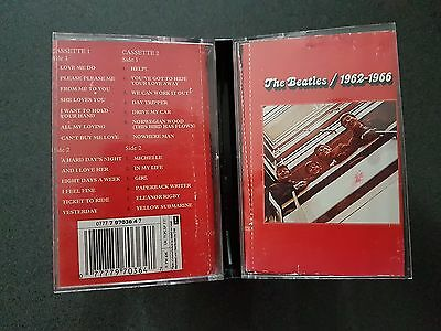 The Beatles 1962-1966 Double Cassette Tape  Australia