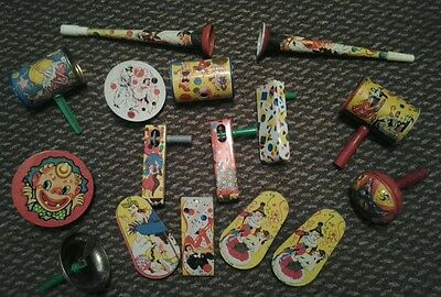 ANTIQUE Lot TIN PAN And Other NOISEMAKER,NEW YEARS