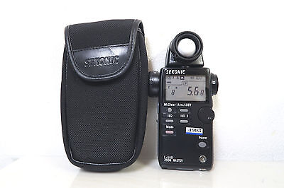 Sekonic L-508 ZOOM MASTER Digital Light Meter W/CASE FREE SHIPPING JAPAN