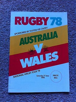 Australia v Wales Second Test 1978