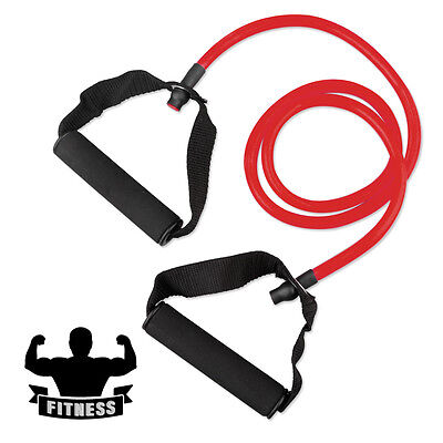 Single Resistance Band TRP Tube with 2 Handles Fitness Equipment Range 22~25 Lbs