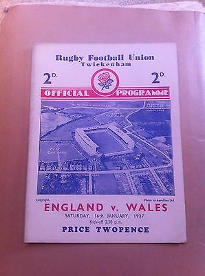 England v Wales 5 Nations 1937