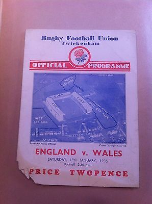 England v Wales 5 Nations 1935
