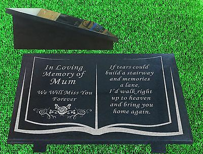 personalised memorial plaque grave marker stone