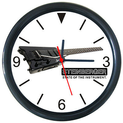 Steinberger Guitar Parts Service Repair Shop Wall Clock