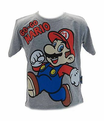 T-shirt Super Mario Bros Grigia
