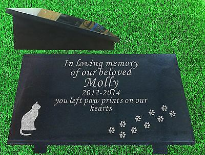 cat memorial plaque grave marker natural granite