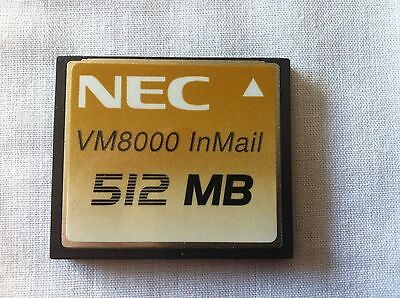 "LOT DE 4 CARTES MEMOIRES "" VM8000 InMail "" - 512 MB NEC / COMPACT FLASH"