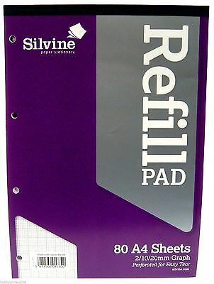 A4 Refill Pad Graph Paper Pad Square - A4 / 160 Sheets  WH2 - R5B -802  NEW