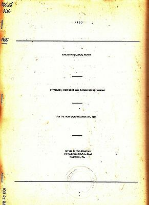 Pittsburgh Fort Wayne and Chicago Railway Company 92nd Annual Report 1954 Train