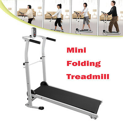 Mini Home Folding Mechanical Fitness Running Machine Treadmill Exercise Incline