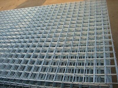 "Premium Welded Wire Mesh Panel 8 x 4ft /2.4 x 1.2m Full Galvanised Steel 2"" Hole"