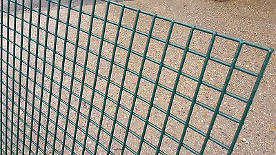 """Welded Wire Mesh Panel 3'x6' Green PVC Coated 0.9x1.8m Sheet Fence Cage 1"""" Holes"""
