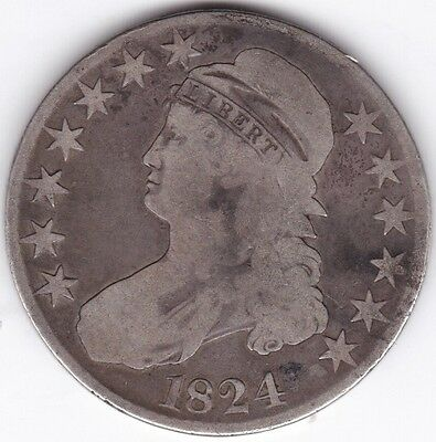 1824 U.S.A. Capped Bust 50 Cents***Collectors***Silver***