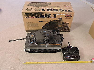 NEW Taigen LATE Version Tiger 1 (Plastic Edition) METAL FRM 2.4GHz RC Tank 1/16