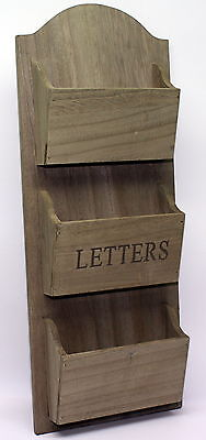 Driftwood Wall Hanging Letter Rack / Post / Wooden / Organiser