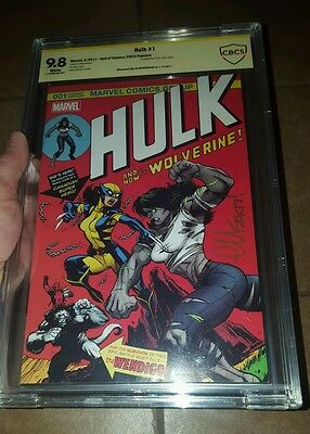 Hulk #1 1C SIGNED by Ed McGuinness Variant (181 homage)X-23 CBCS 9.8 Limited 500